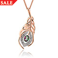 Peacock Throne Topaz Pendant