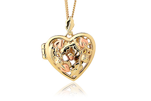 Royal Clogau Oak Open Heart Locket