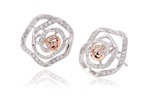 Royal Roses Diamond Stud Earrings *SALE*