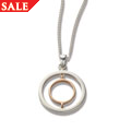 Silver & Rose Gold Ripples Pendant *SALE*