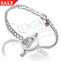 Silver & Rose Gold Hearts of Gold Bracelet *SALE*