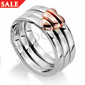 Silver & Rose Gold Heart of Gold Ring *SALE*