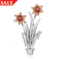 Double Daffodil Brooch