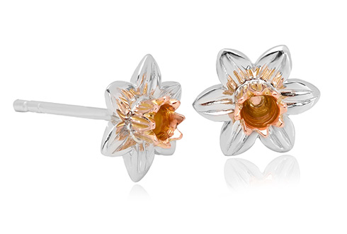 97fa14a0d Daffodil Stud Earrings | SDSE | Clogau Gold