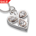 Silver & Rose Gold Heart of Wales Pendant *SALE*