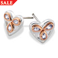 Silver & Rose Gold Heart of Wales Earrings *SALE*