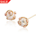 Tree of Life Caged Pearl Stud Earrings *SALE*