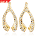 Wishbone Diamond Stud Earrings