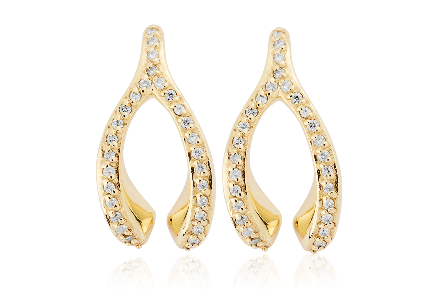 Wishbone Diamond Stud Earrings *SALE*