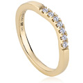 9ct Yellow & Rose Gold Past Present Future Engagement Ring