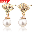 Yellow Windsor Pearl Stud Earrings