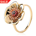 Welsh Poppy Diamond and Ruby Ring *SALE*