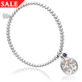 Tree of Life White Topaz & Iolite Beaded Bracelet *SALE*