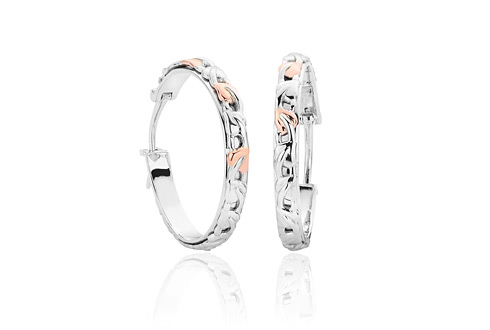 Clogau Womens Jewellery Tree of Life Sterling Silver And Rose Gold Hoop Earrings GLLAxPMHht