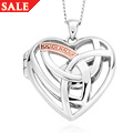 Silver & Rose Gold Eternal Love Locket *SALE*