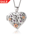 Secret Garden Flower Heart Locket *SALE*
