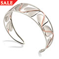 9ct Silver and Rose Gold Love Vine Bangle *SALE*