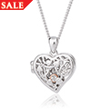Tree of Life White Topaz Elements Locket *SALE*
