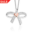 Tree of Life Bow White Topaz Pendant *SALE*