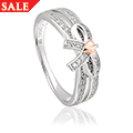 Tree of Life Bow White Topaz Ring *SALE*