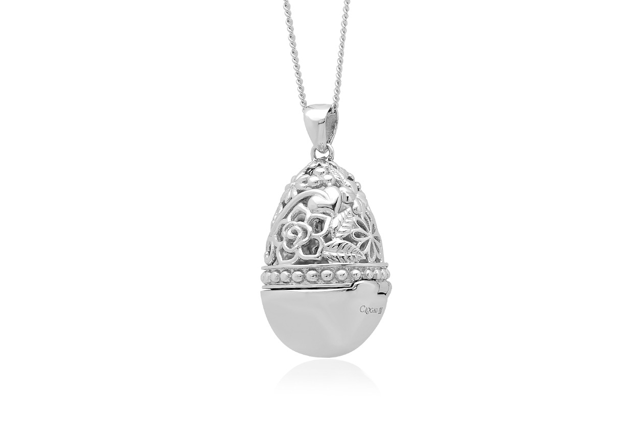 Floral Egg Locket