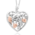 Royal Clogau Oak Heart Locket