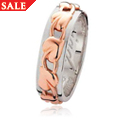 Silver & Rose Gold 6mm Tree of Life Wedding Ring *SALE*