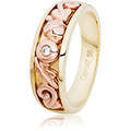 Royal Clogau Oak Celebration Dathlu Ring