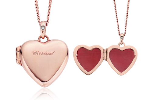 Cariad Diamond Heart Locket