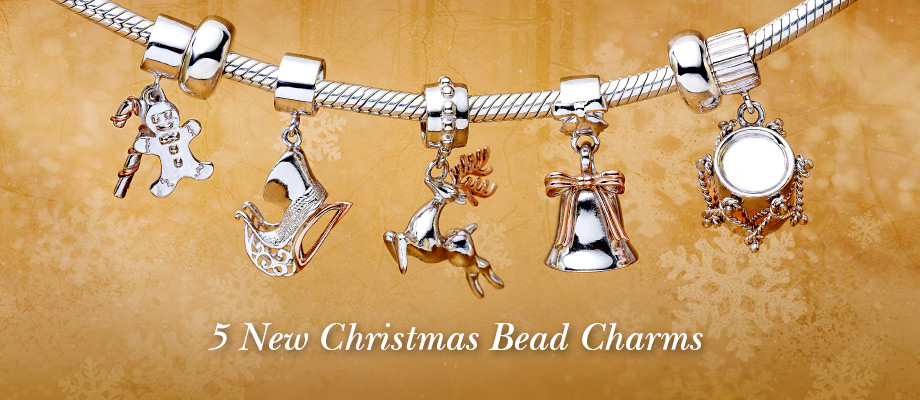 5 exclusive Christmas bead charms
