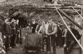 Miners at the Clogau mine
