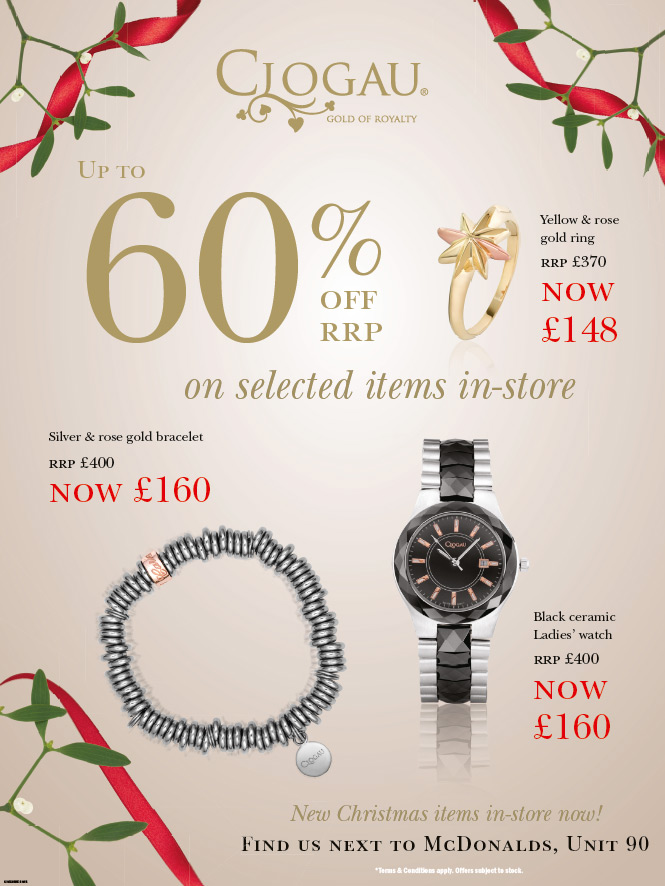December offers in the Clogau Outlets