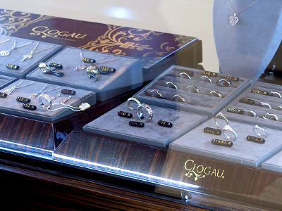 In each store you will find around 100-150 Clogau items from last season