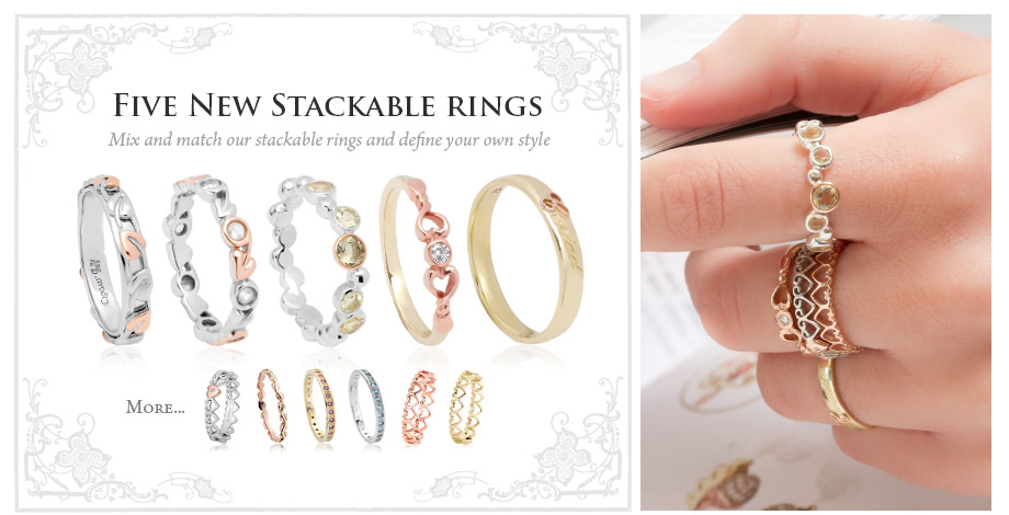 Five New Stackable Rings