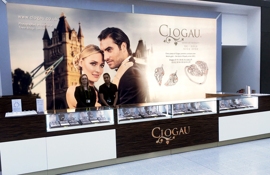 Manchester Airport Clogau store front image